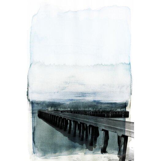 Wharf Graphic Art on Canvas