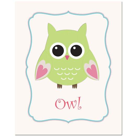 Secretly Designed Owl in Frame Art Print