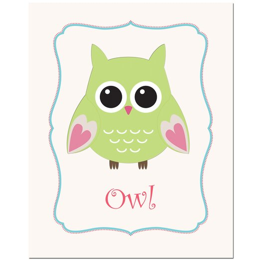 Secretly Designed Owl in Frame Art Print