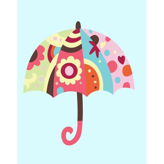 Secretly Designed Umbrella Wall Decal