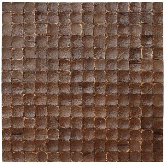 Cocomosaic Coconut Textured Mosaic in Espresso Luster