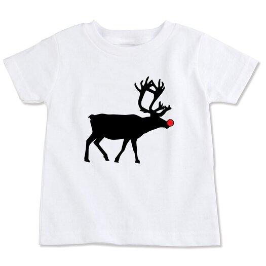Spunky Stork Reindeer Silhouette Organic T-shirt