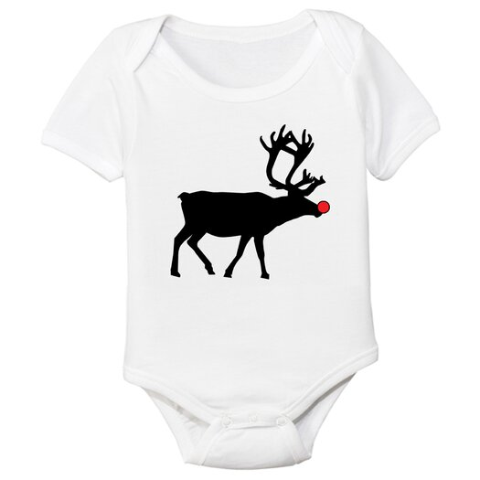 Spunky Stork Reindeer Silhouette Organic Bodysuit