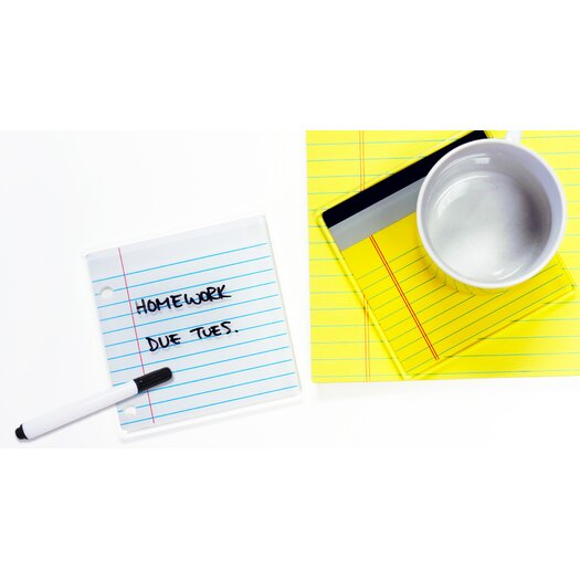 Molla Space, Inc. Coaster Pads Yellow Pad