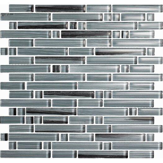 Epoch Architectural Surfaces Brushstrokes Peltro Random Sized Mosaic in Gray Multi