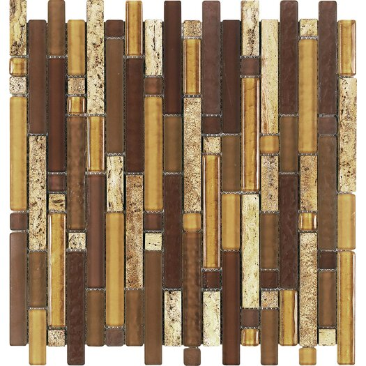 Epoch Architectural Surfaces Varietals Aligote Random Sized Stone and Glass Blend Frosted Mosaic in Multi