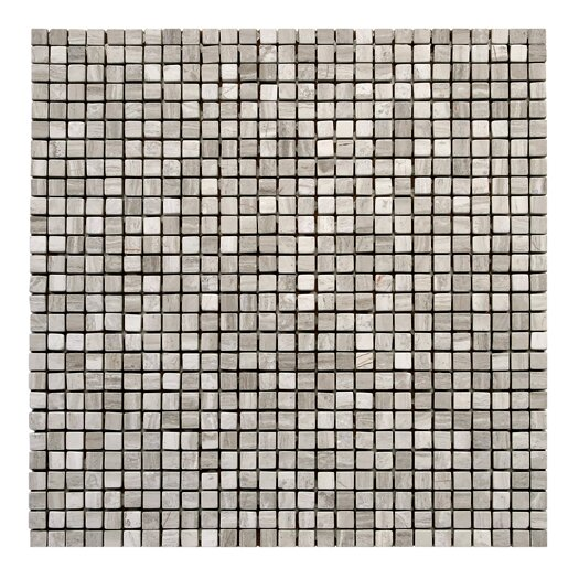 "Solistone Haisa Marble 12"" x 12"" Micro Mosaic in Haisa Light"