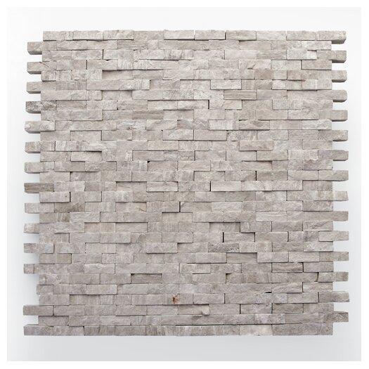 "Solistone Haisa Marble 12"" x 12"" Split Face Mosaic in Haisa Light"
