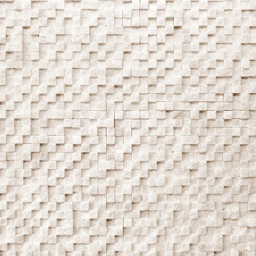 Solistone Cubist Stone Textured Mesh Mosaic in Salon