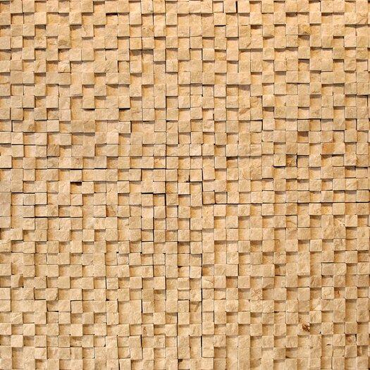 Solistone Cubist Stone Textured Mesh Mosaic in Dufy