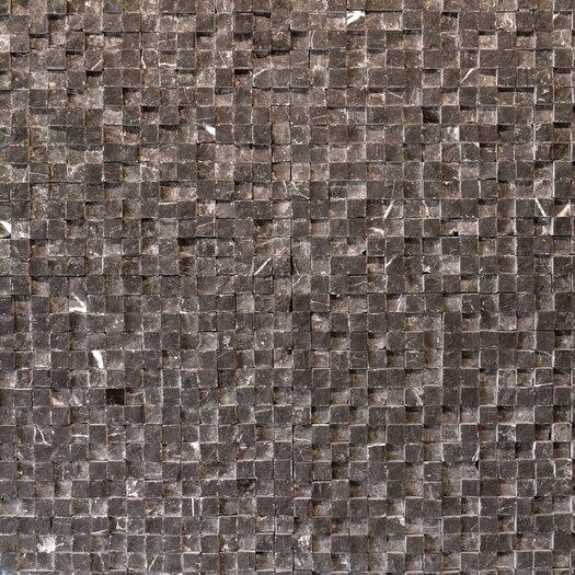 "Solistone Cubist 12"" x 12"" Mesh Mosaic in Gris"