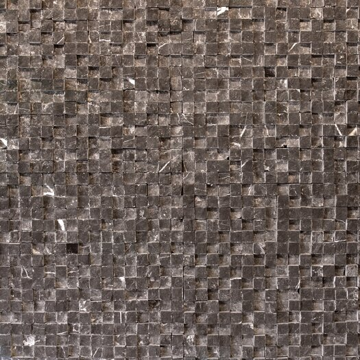 Solistone Cubist Stone Textured Mesh Mosaic in Gris