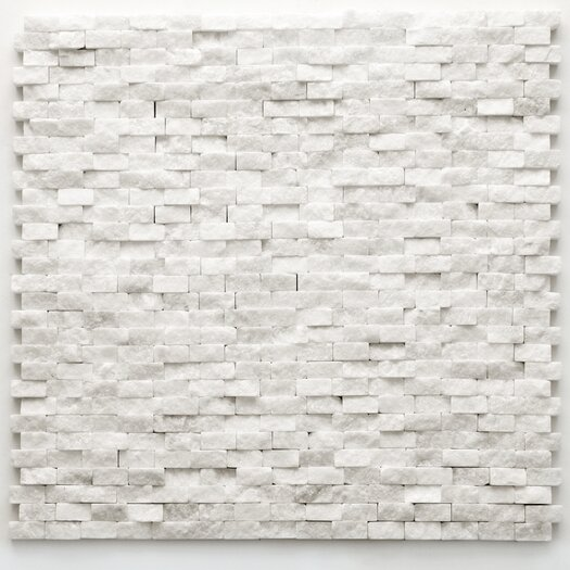 "Solistone Modern 1/2"" x 3/4"" Stone Unpolished Mosaic in Beaux"