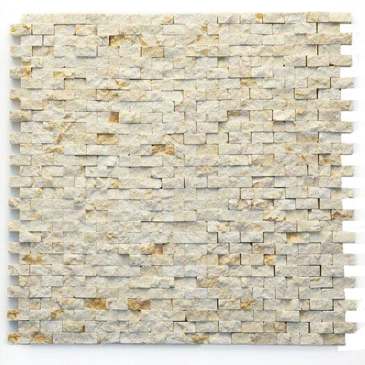 "Solistone Modern 1/2"" x 3/4"" Stone Unpolished Mosaic in Still Life"