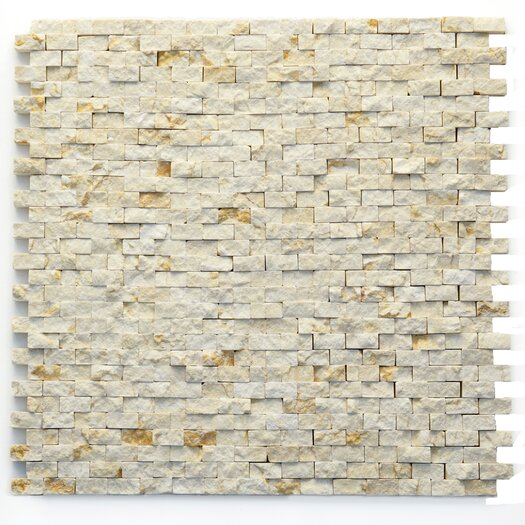 "Solistone Modern 1/2"" x 3/4"" Stone Unpolished Mosaic in Still Life"