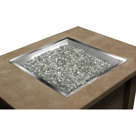 The Outdoor GreatRoom Company Glass Natural Gas / Propane Fire Pit Table