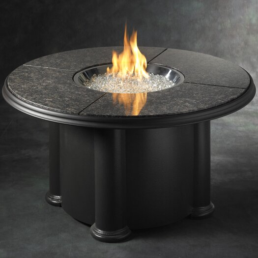 The Outdoor GreatRoom Company Grand Colonial Table with Fire Pit