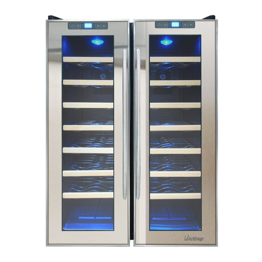 Vinotemp 48 Bottle Dual Zone Thermoelectric Wine Refrigerator