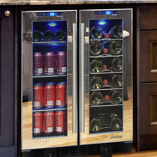 Vinotemp 36 Bottle Dual Zone Built-In Wine Refrigerator