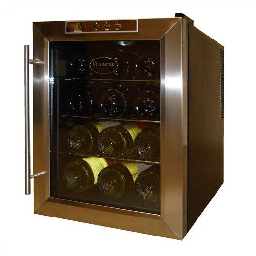 Vinotemp 12 Bottle Single Zone Thermoelectric Wine Refrigerator