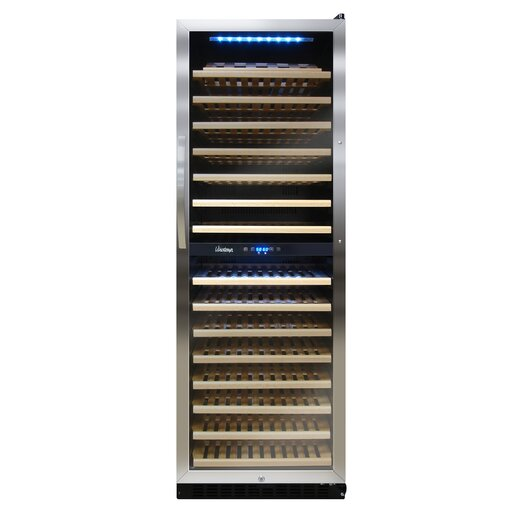 Vinotemp 155 Bottle Dual Zone Wine Refrigerator