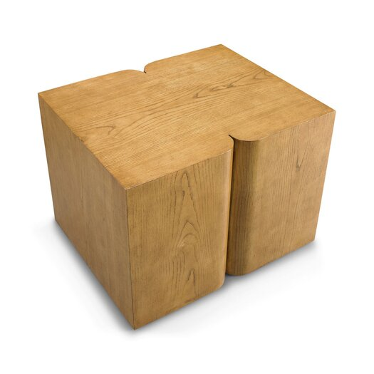 DwellStudio Curtis  French Oak Side Table
