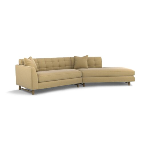 DwellStudio Edward Left Arm Angled Sectional Sofa