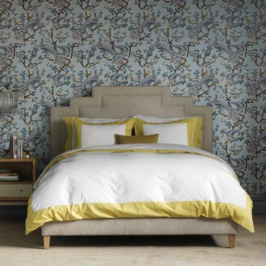 DwellStudio Vintage Plumes Jade Wallpaper
