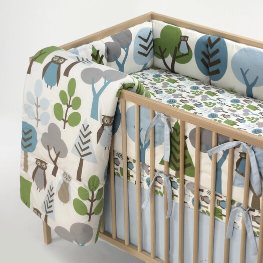 DwellStudio Owls Fitted Crib Sheet