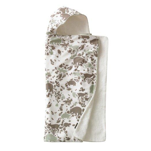 DwellStudio Woodland Tumble Mocha Hooded Towel