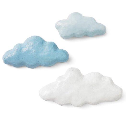 DwellStudio 3 Piece Clouds Sky Papier-Mache Wall Décor Set