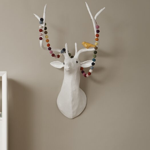 DwellStudio Deer Papier-Mâché Head Wall Décor