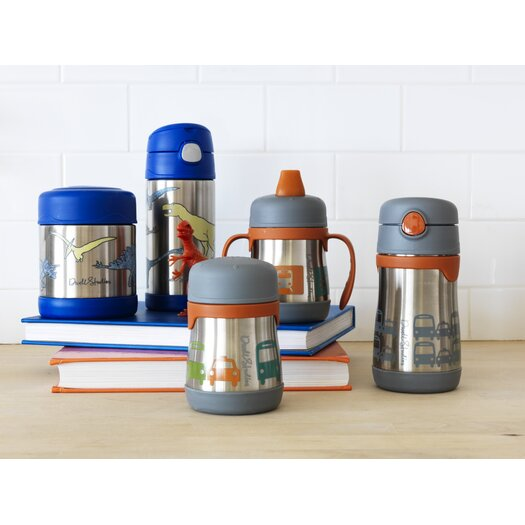 DwellStudio Transportation 10 oz Vacuum Insulated Straw Bottle