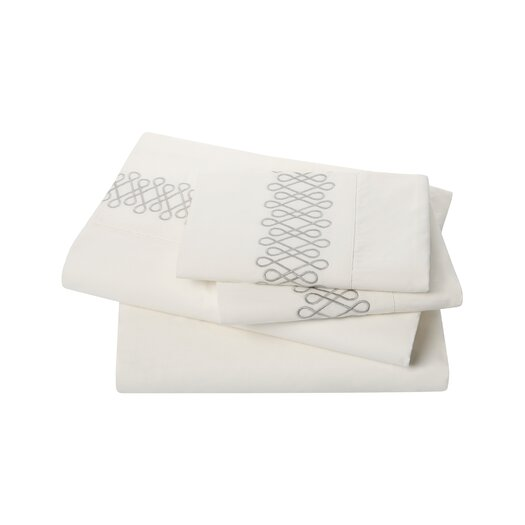 DwellStudio Filigree Smoke Sheet Set