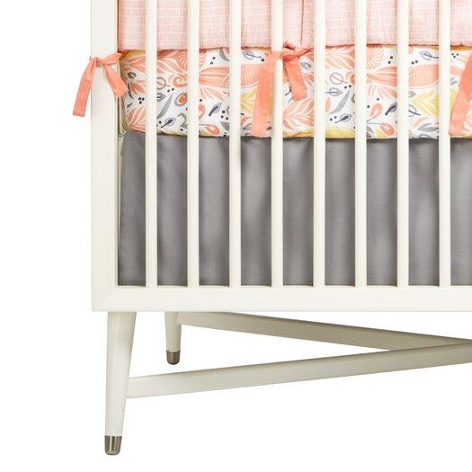 DwellStudio Solid Grey Canvas Crib Skirt
