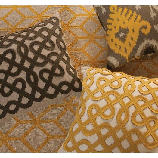 DwellStudio Labyrinth Citrine Pillow
