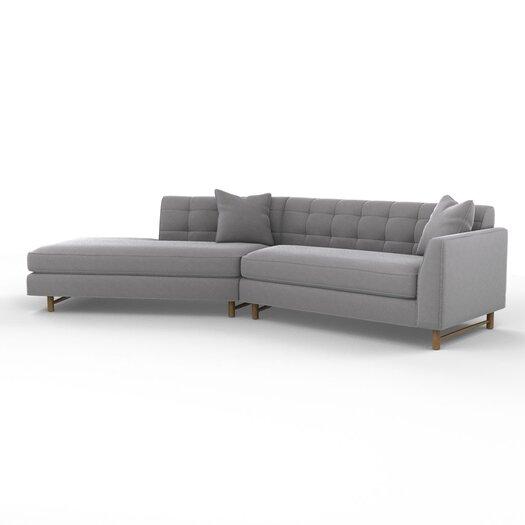 DwellStudio Edward Right Arm Angled Sectional Sofa