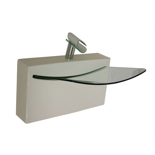 LaToscana Cristal Wall Mount Bathroom Sink