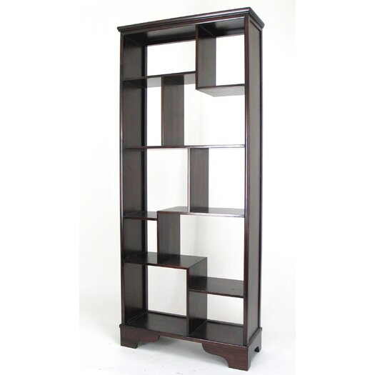 "Wayborn 10 Compartment Geometric 78"" Bookcase"
