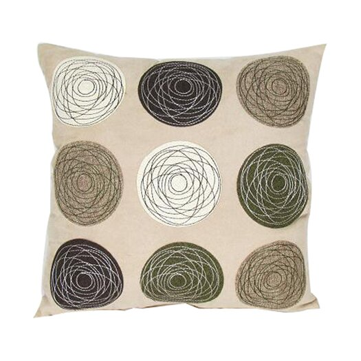 Wayborn Embroidered Patchwork Linen Decorative Throw Pillow