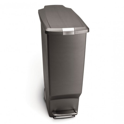 simplehuman 40 L / 10.6 Gal, Slim Plastic Step Trash Can