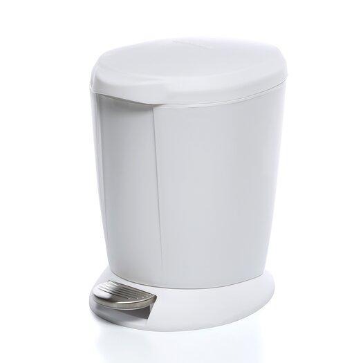 simplehuman 6L / 1.6 Gal, Mini Round Step Trash Can
