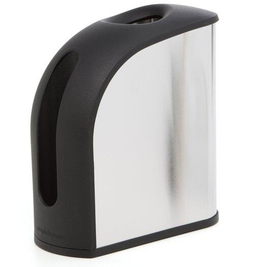 simplehuman Grocery Bag Dispenser, Stainless Steel
