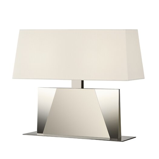 """Sonneman Facet Banquette 18"""" H Table Lamp with Rectangular Shade"""
