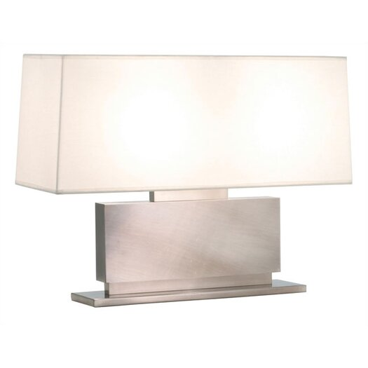 "Sonneman Plinth Low 18.5"" H Table Lamp with Rectangular Shade"