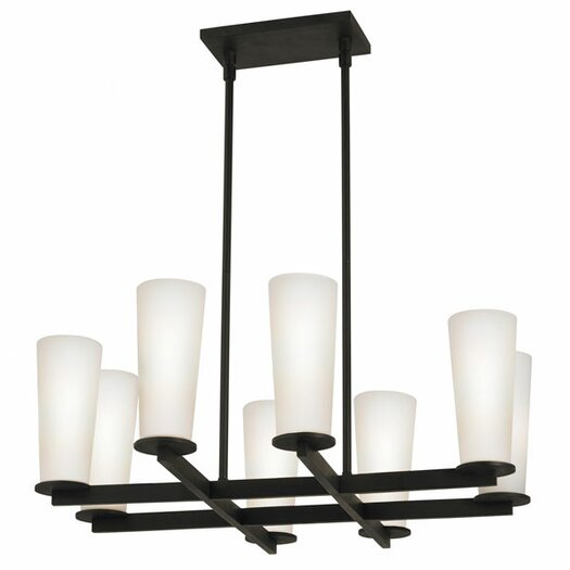 Sonneman High Line 8 Light Square Pendant