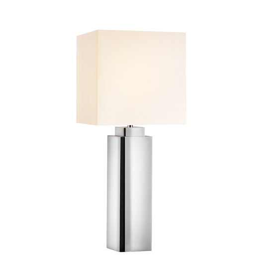 "Sonneman Mirror 33"" H Table Lamp with Square Shade"