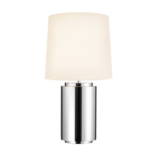 "Sonneman Mirror 29"" H Table Lamp with Drum Shade"