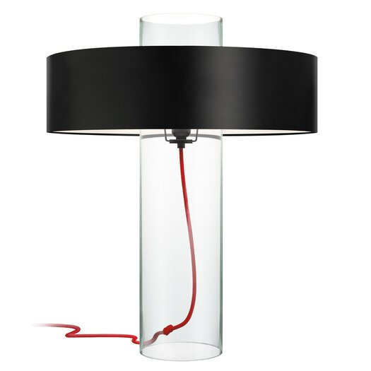 """Sonneman Level 24"""" H Table Lamp with Drum Shade"""