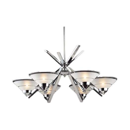 Elk Lighting Refraction 6 Light Chandelier